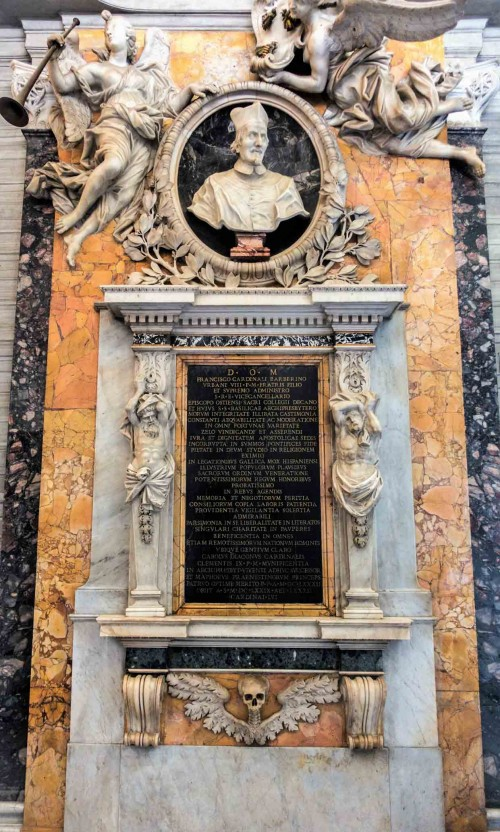 Pomnik nagrobny kardynała Francesco Barberiniego, przedsionek zakrystii bazyliki San Pietro in Vaticano