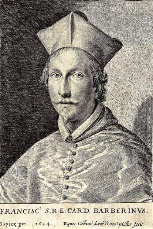 Portret kardynała Francesca Barberiniego, Ottavio Leoni, zdj. Wikipedia