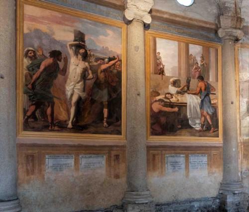 San Stefano Rotondo, freski ze scenami kaźni pierwszych chrześcijan, Pomarancio