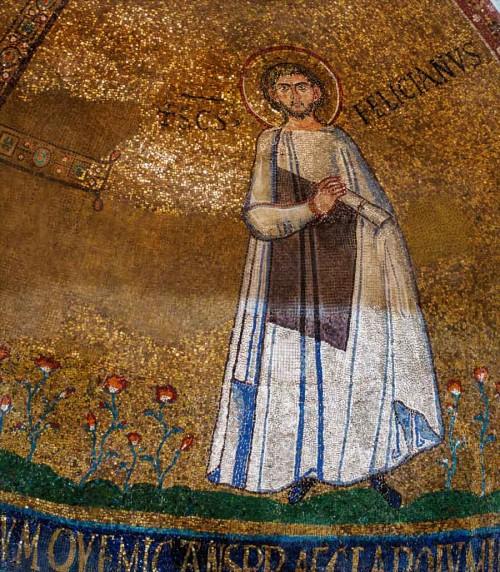 San Stefano Rotondo, mozaika w absydzie z przedstawieniem św. Felicjana