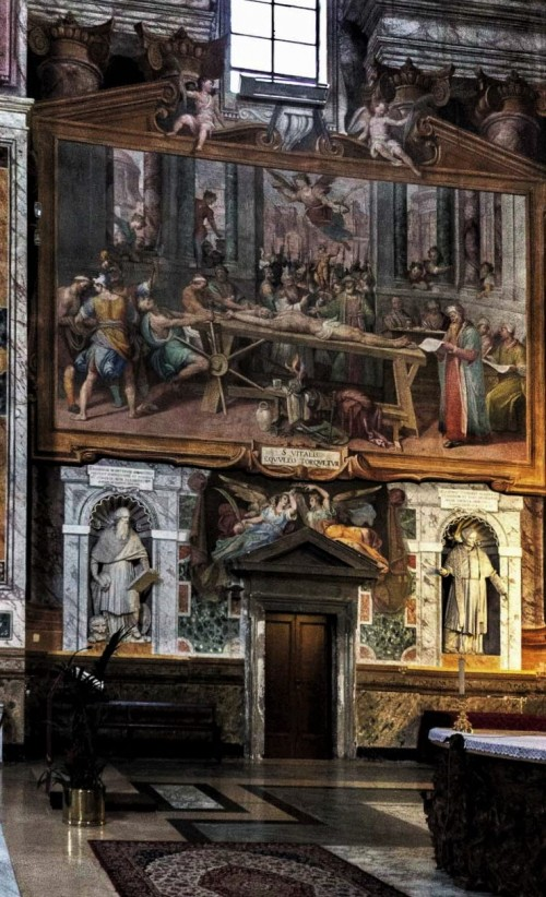 San Vitale, decoration of the transept of the church – The Martyrdom of St. Vitalis, Agostino Ciampelli