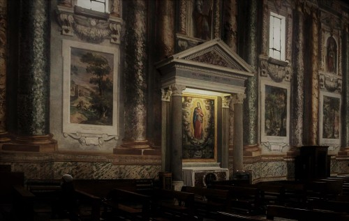 Basilica of San Vitale, painting decorations from the turn of the XVI and XVII centuries