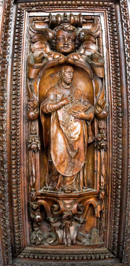 San Vitale, jeden z paneli głównych z drzwi kościoła