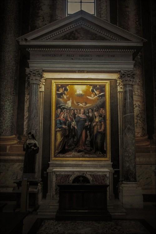 San Vitale, kaplica Świętych Dziewic (w środku obrazu Katarzyna Aleksandryjska), G.B. Fiammeri