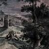 San Vitale, dekoracja malarska wnętrza kościoła - Śmierć św. Ignacego na tle Koloseum