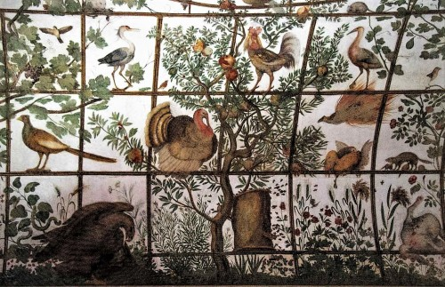 Egzotyczne ptaki - dekoracja prywatnego pawilonu kardynała Ferdinanda de Medici, Willa Medici