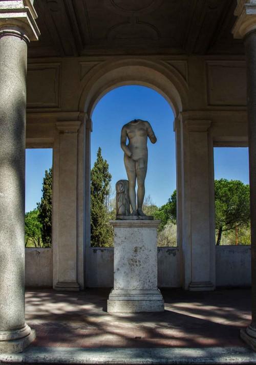 Loggia of Cleopatra in the arrangements of Villa Medici