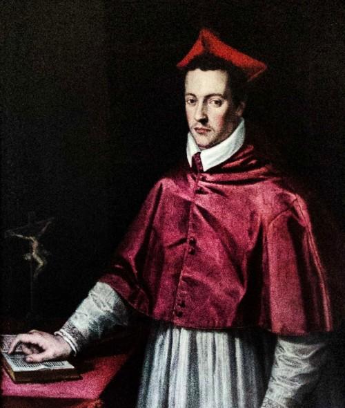 Portret Ferdinanda de Medici, Jacopo Zucchi, fragment, Willa Medici
