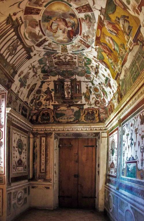 The cardinal's studiolo in the garden pavilion, Villa Medici