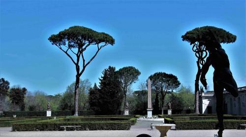 Widok na park z loggii casina kardynała Ferdinanda de Medici, Willa Medici