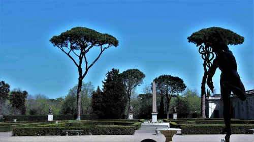 View of the park from the loggia of the cardinal's casino, Villa Medici