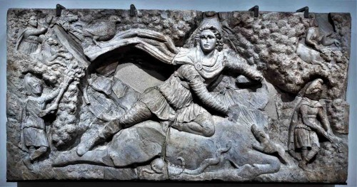 Mitra pokonujący byka, Museo Nazionale Romano, Palazzo Massimo alle Terme