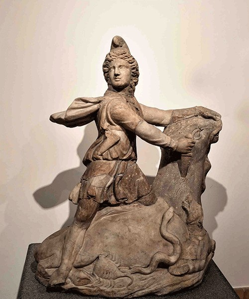 Mithra with a bull, Museo Nazionale Romano, Palazzo Massimo alle Terme