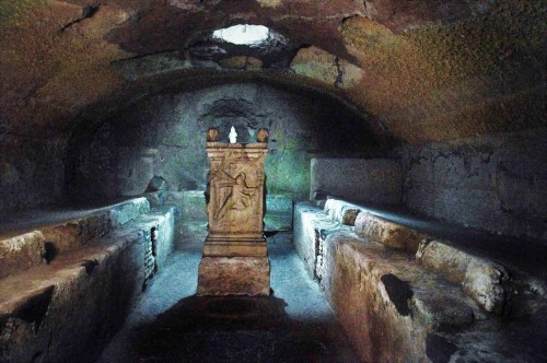 Mithraeum in the underground of the Church of San Clemente, pic. Wikipedia, autor Ice Boy Tell