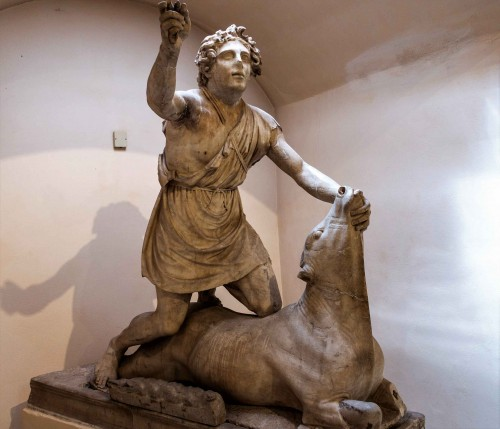 Statue of Mithra, Museo Ostia Antica