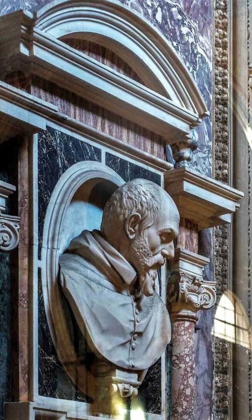 Francesco Mochi, popiersie Ladislao d'Aquino, kościół Santa Maria sopra Minerva