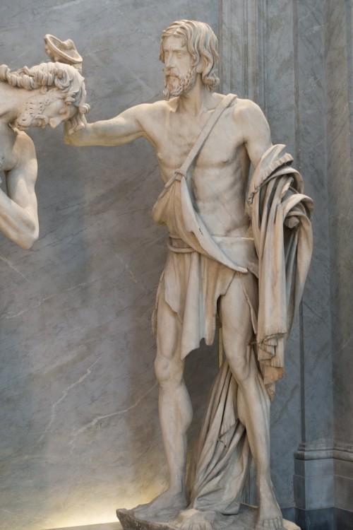 Francesco Mochi, św. Jan Chrzciciel - grupa Chrzest Chrystusa, bazylika San Giovanni dei Fiorentini