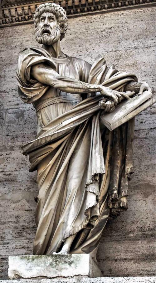 Francesco Mochi, św. Piotr, dekoracja bramy Porta del Popolo