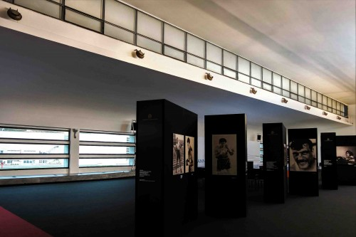 Luigi Moretti, Accademia della Scherma, wnętrze, stan obecny