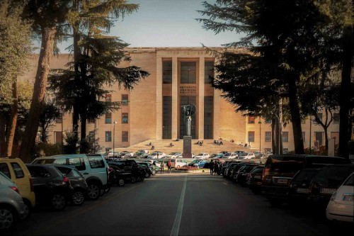 Main enterance to the Aula Magna, Città Universitaria