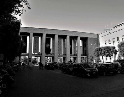 Monumental portal leading into the university campus, Città Universitaria