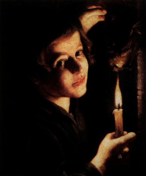 Trophime Bigot, Chłopiec podpalający nietoperzowi skrzydła, Galleria Doria Pamphilj, zdj. Wikipedia