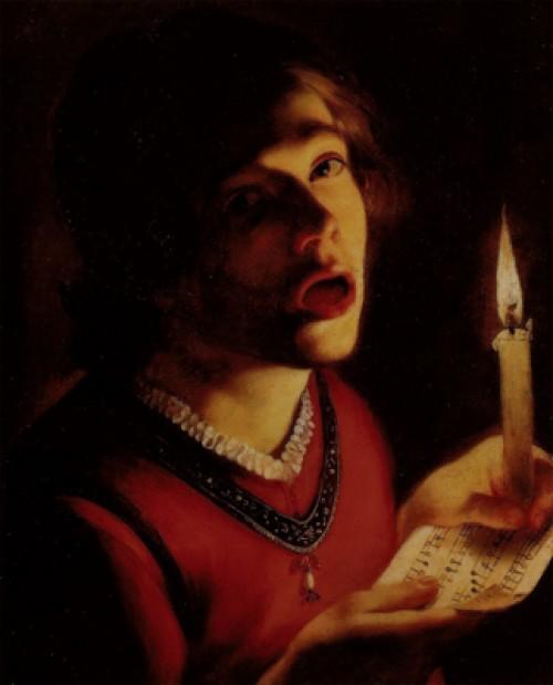 Trophime Bigot, Śpiewak ze świecą, Galleria Doria Pamphilj, zdj. Wikipedia