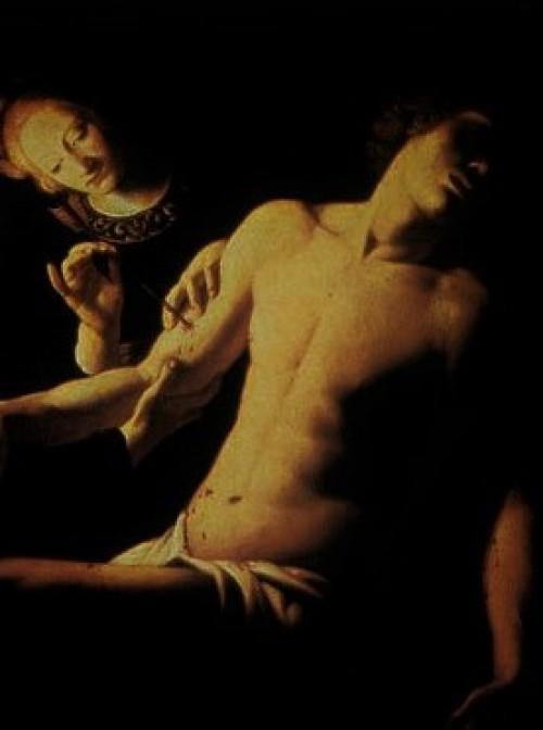 Trophime Bigot, Św. Sebastian uzdrawiany przez świętą Irenę i Lucynę, fragment, Galleria Nazionale d'Arte Antica, Palazzo Corsini