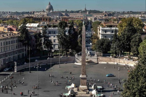 Flaminio Obelisk, Piazza del Popolo, view from Pincio Hill