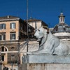 One of the two lions decorating the base of the Flaminio Obelisk, Giuseppe Valadier, Piazza del Popolo