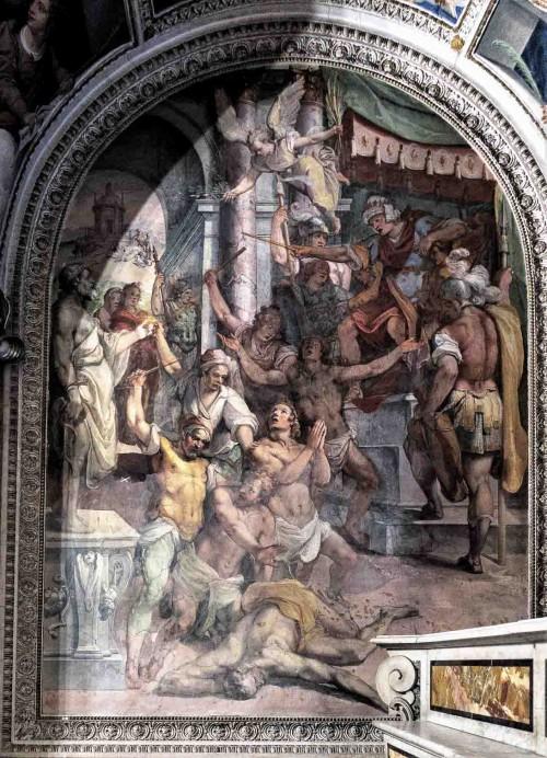 Oratorio San Silvestro przy kościele Santi Quattro Coronati, malowidła absydy