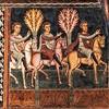 Oratorio San Silvestro przy kościele Santi Quattro Coronati, posłowie wyruszają do biskupa Sylwestra
