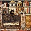 Oratorio San Silvestro przy kościele Santi Quattro Coronati,  scena, w której Konstantynowi ukazują się we śnie apostołowie Piotr i Paweł