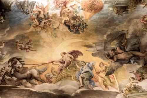 Palazzo Barberini, dekoracja jednej z sal, Słoneczny rydwan, Giuseppe Chiari