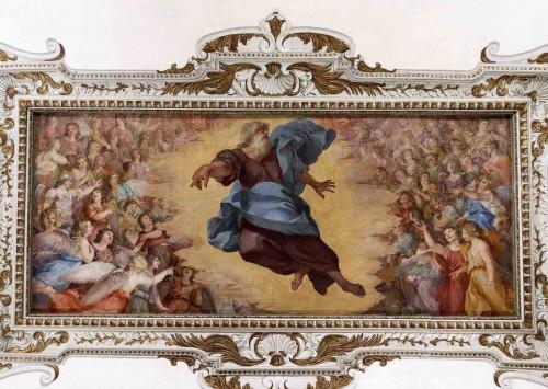 Palazzo Barberini, dekoracja sufitowa jednej z sal - Stworzenie aniołów, Andrea Camassei
