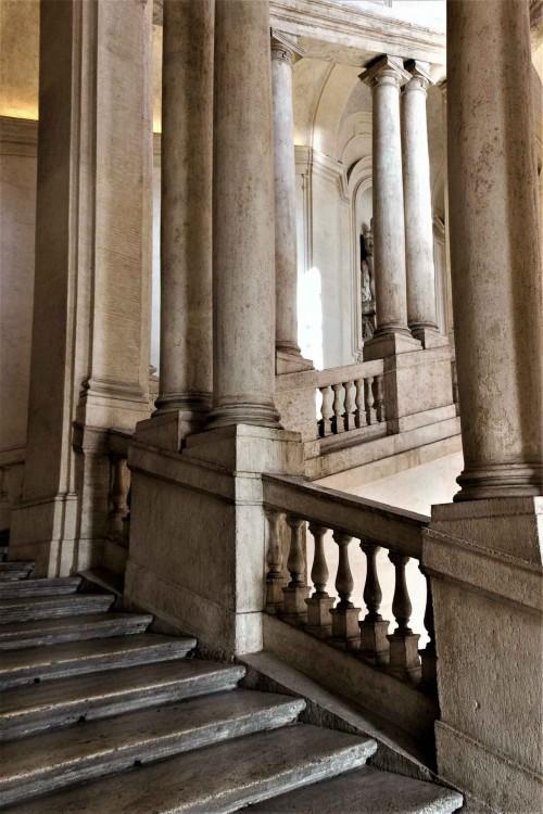 Palazzo Barberini, klatka schodowa prowadząca na piano nobile pałacu