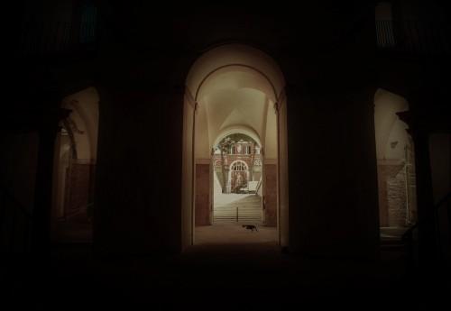 Palazzo Barberini, parter - przejście na stronę ogrodową