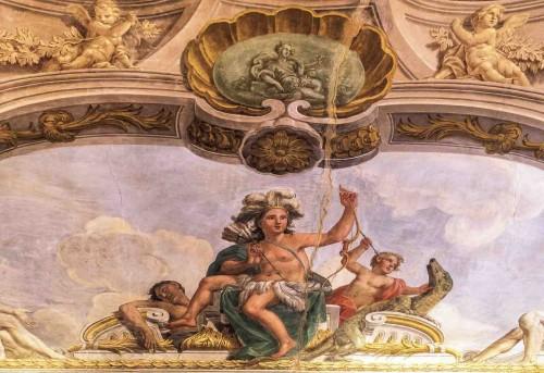 Palazzo Barberini, Personifikacja Ameryki w jednej z sal apartamentów Kornelii Konstancji Barberini