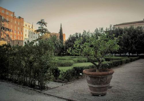 Palazzo Barberini, pozostałości po dawnych ogrodach pałacowych