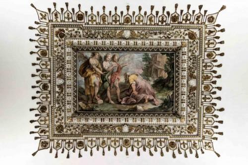 Palazzo Barberini, Przybycie trzech aniołów do Jakuba, dekoracja jednej z sal pałacu, Antonio Viviani