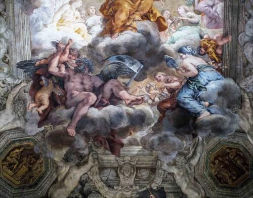 Palazzo Barberini, Sala Grande, Triumf Opatrzności Bożej, fragment, Pietro da Cortona
