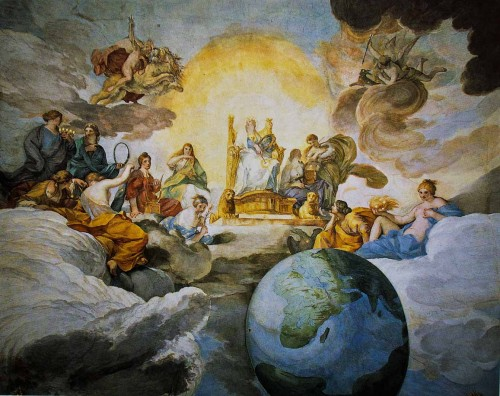 Palazzo Barberini, Triumf Mądrości Bożej, Andrea Sacchi