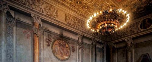 Palazzo Venezia, Sala del Mappamondo dekorowana na zlecenie kardynała Lorenzo Cybo, koniec XV w.
