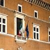 Palazzo Venezia od strony Piazza Venezia, balkon Mussoliniego