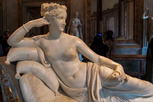 Pauline Borghese jako Wenus Zwycięska, Antonio Canova, Galleria Borghese