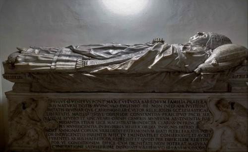 Sarcophagus of Pope Paul II, Vatican Grottoes, Mino da Fiesole