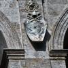 Loggia kościoła San Marco, fundacja papieża Pawła II, jego herb, lwy (symbole Wenecji) i wizerunek św. Marka