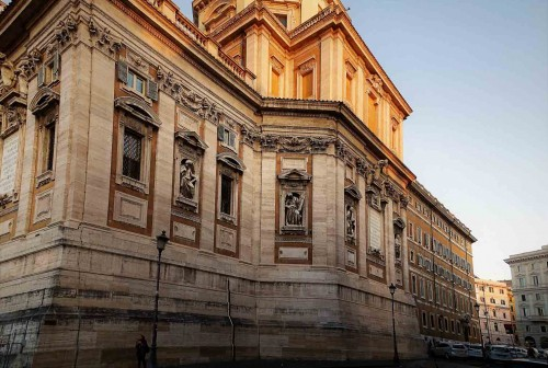 Bazylika Santa Maria Maggiore, widok kaplicy Pawła V z zewnątrz