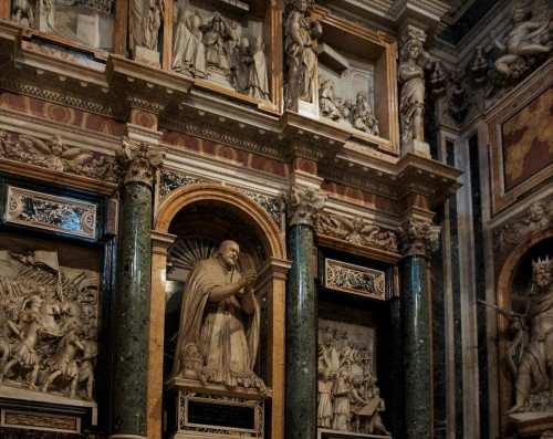Cappella Paolina, funerary monument of Pope Paul V, Basilica of Santa Maria Maggiore