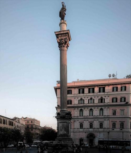 Column in front of the Basilica of Santa Maria Maggiore